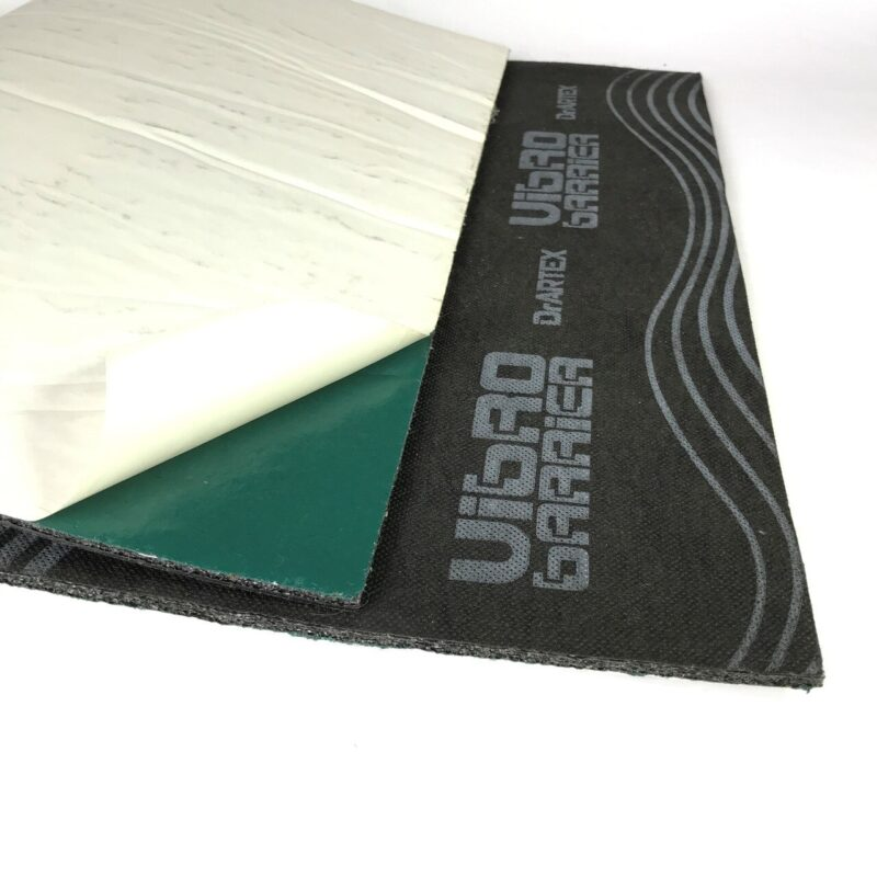 DrArtex VibroBarrier (with glue) sheet and reverse side